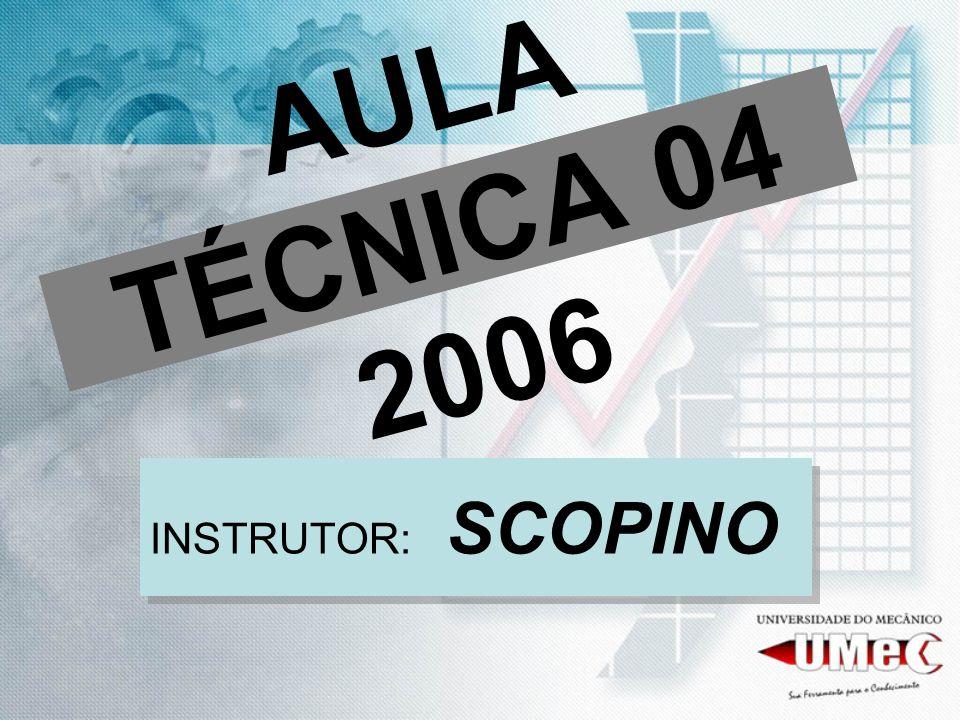 AULA TÉCNICA 04 2006 INSTRUTOR: SCOPINO