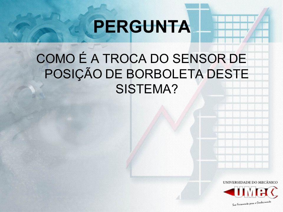 COMO É A TROCA DO SENSOR DE POSIÇÃO DE BORBOLETA DESTE SISTEMA
