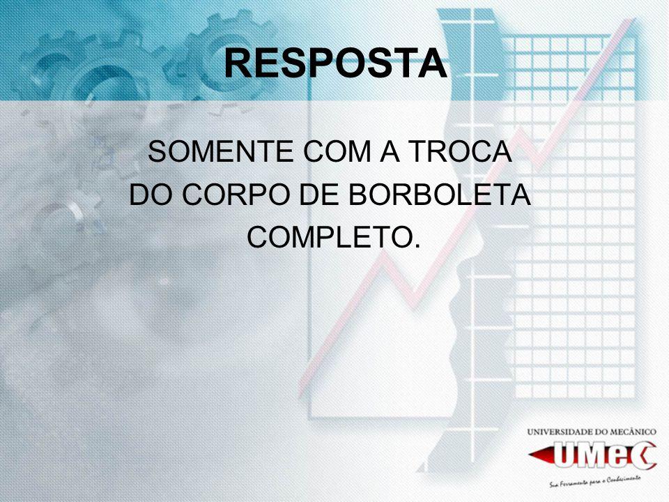RESPOSTA SOMENTE COM A TROCA DO CORPO DE BORBOLETA COMPLETO.