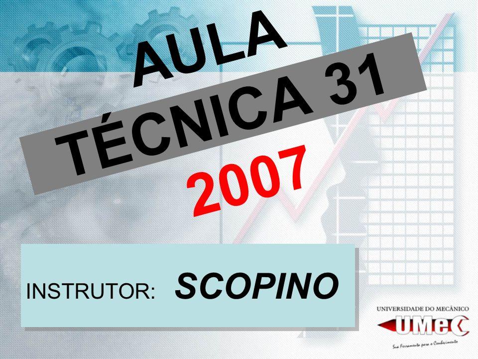 AULA TÉCNICA 31 2007 INSTRUTOR: SCOPINO