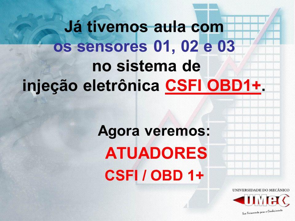 Já tivemos aula com os sensores 01, 02 e 03 no sistema de injeção eletrônica CSFI OBD1+.
