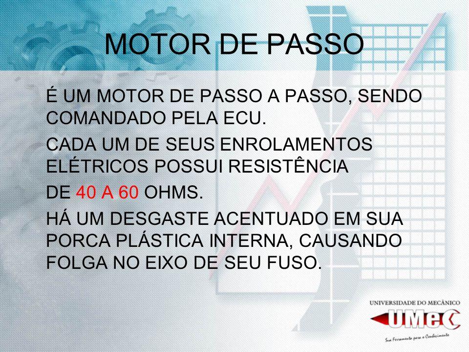 MOTOR DE PASSO É UM MOTOR DE PASSO A PASSO, SENDO COMANDADO PELA ECU.