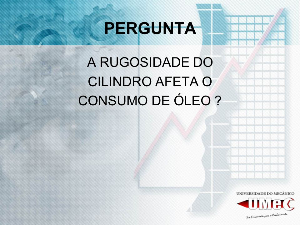 PERGUNTA A RUGOSIDADE DO CILINDRO AFETA O CONSUMO DE ÓLEO