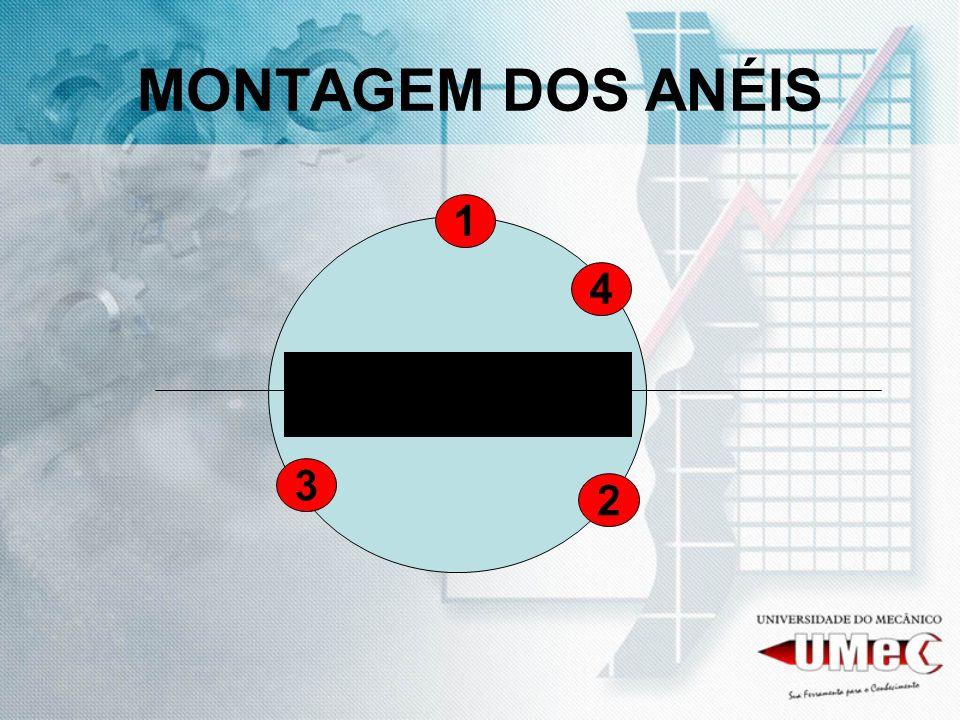 MONTAGEM DOS ANÉIS 1 4 3 2