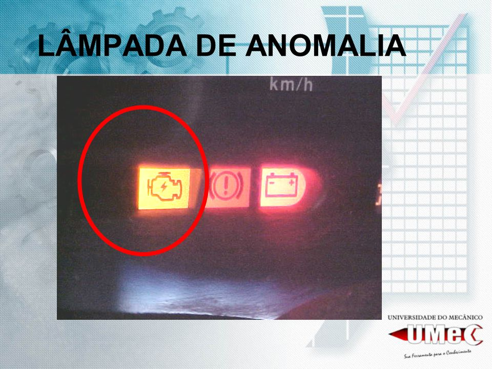 LÂMPADA DE ANOMALIA