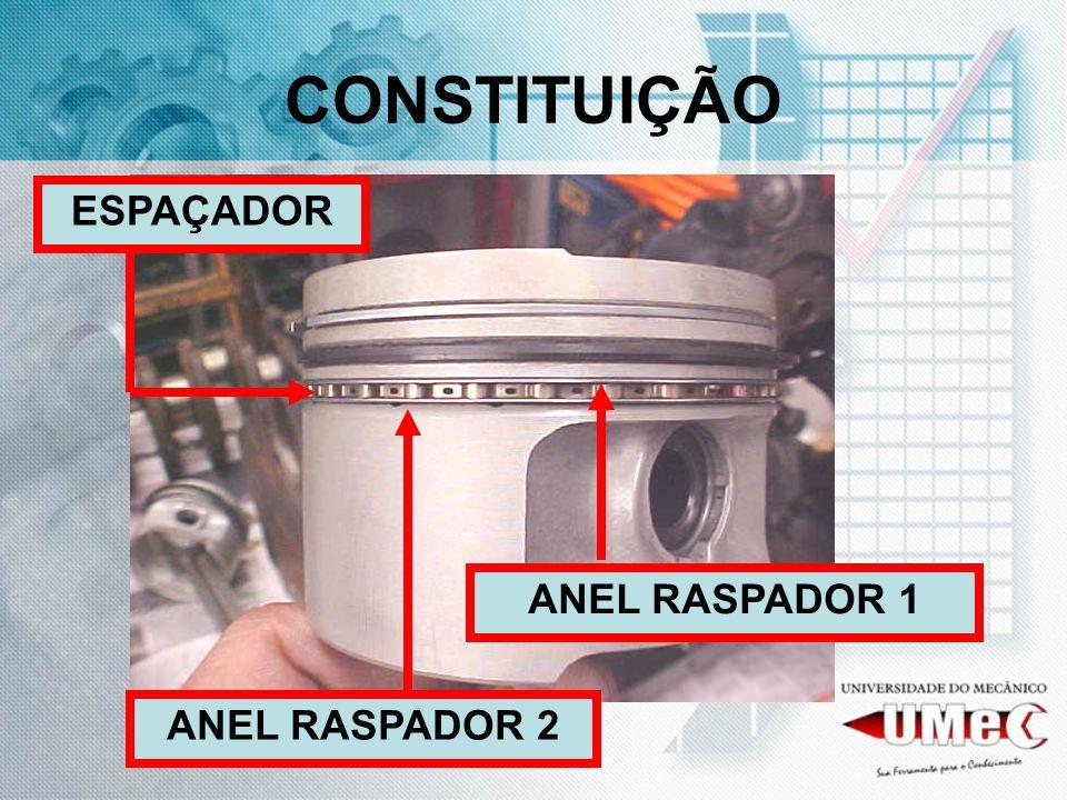 CONSTITUIÇÃO ESPAÇADOR ANEL RASPADOR 1 ANEL RASPADOR 2