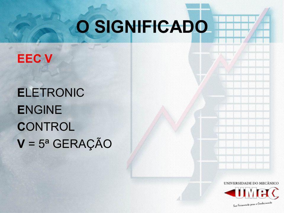 O SIGNIFICADO EEC V ELETRONIC ENGINE CONTROL V = 5ª GERAÇÃO