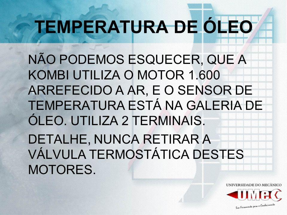 TEMPERATURA DE ÓLEO