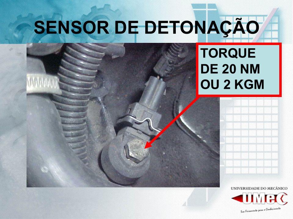 SENSOR DE DETONAÇÃO TORQUE DE 20 NM OU 2 KGM
