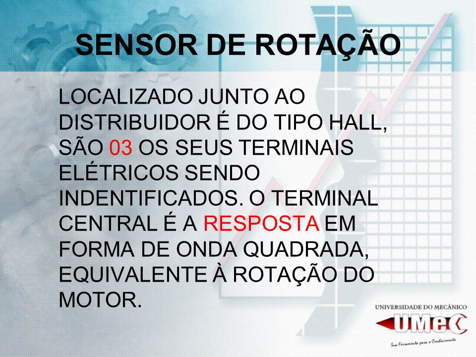 SENSOR DE ROTAÇÃO