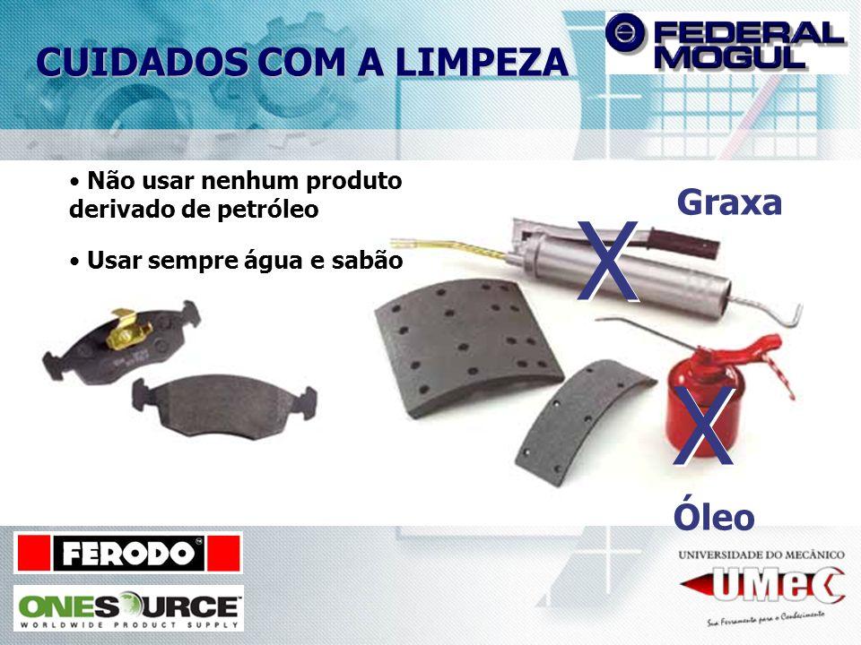 X X CUIDADOS COM A LIMPEZA Graxa Óleo