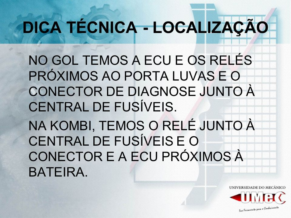 DICA TÉCNICA - LOCALIZAÇÃO