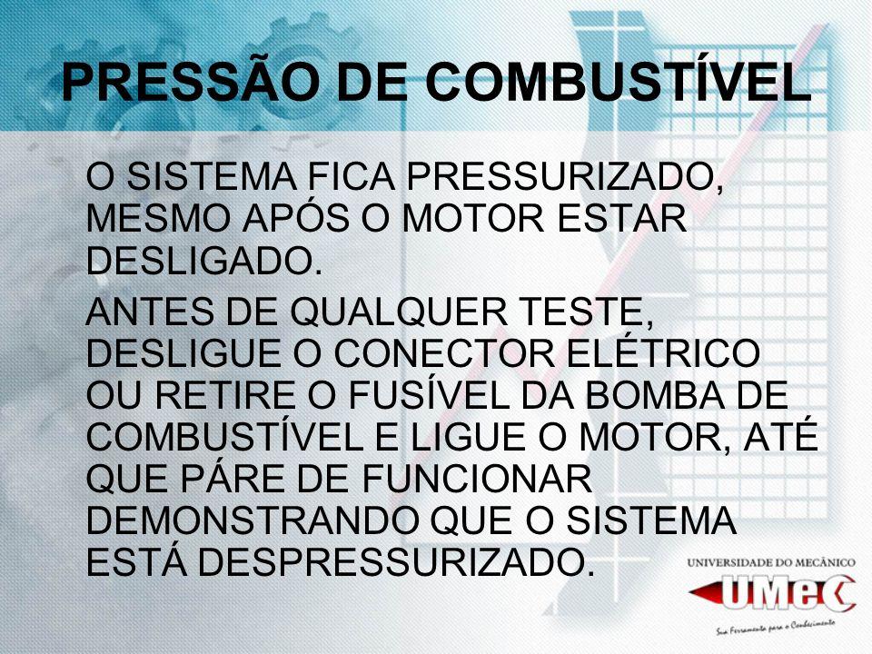 PRESSÃO DE COMBUSTÍVEL