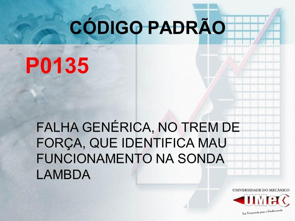 CÓDIGO PADRÃO P0135.