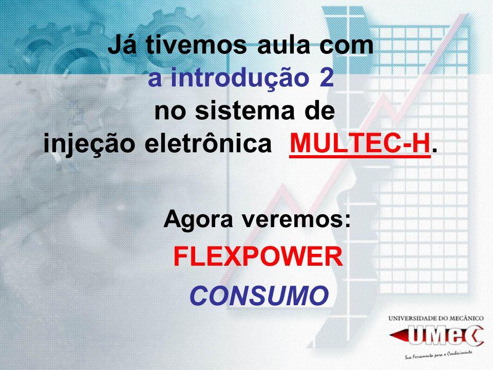Já tivemos aula com a introdução 2 no sistema de injeção eletrônica MULTEC-H.