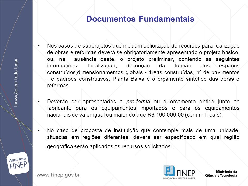 Documentos Fundamentais