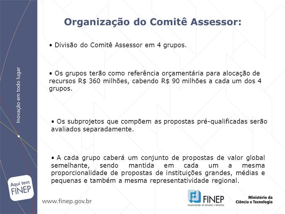 Organização do Comitê Assessor: