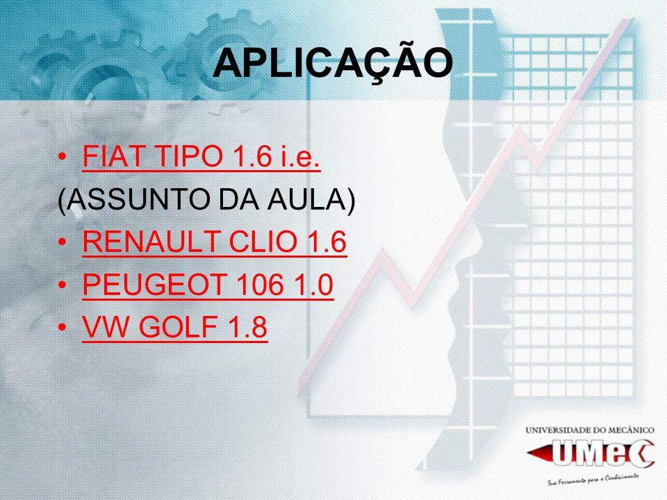 APLICAÇÃO FIAT TIPO 1.6 i.e. (ASSUNTO DA AULA) RENAULT CLIO 1.6