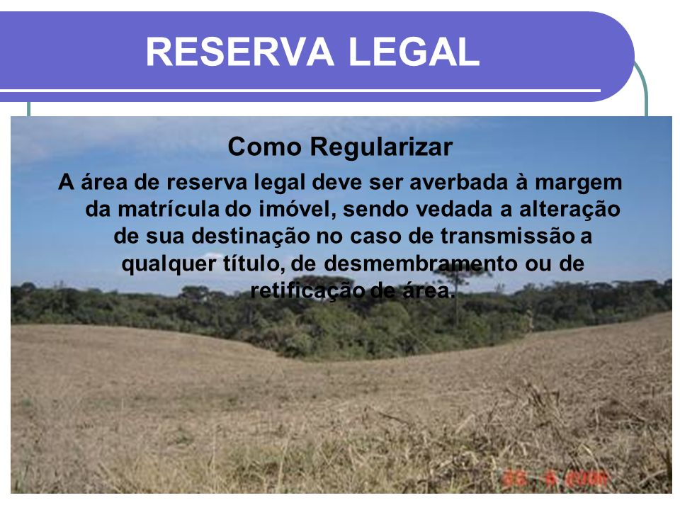 RESERVA LEGAL Como Regularizar