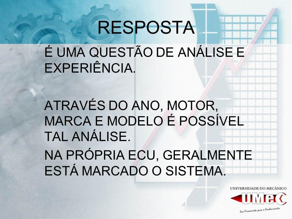 RESPOSTA É UMA QUESTÃO DE ANÁLISE E EXPERIÊNCIA.