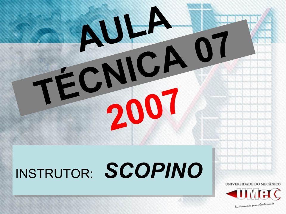AULA TÉCNICA 07 2007 INSTRUTOR: SCOPINO