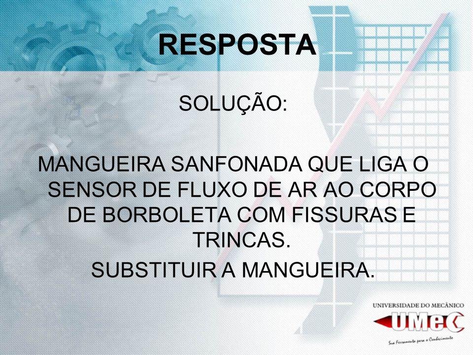 SUBSTITUIR A MANGUEIRA.