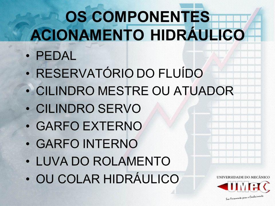 OS COMPONENTES ACIONAMENTO HIDRÁULICO