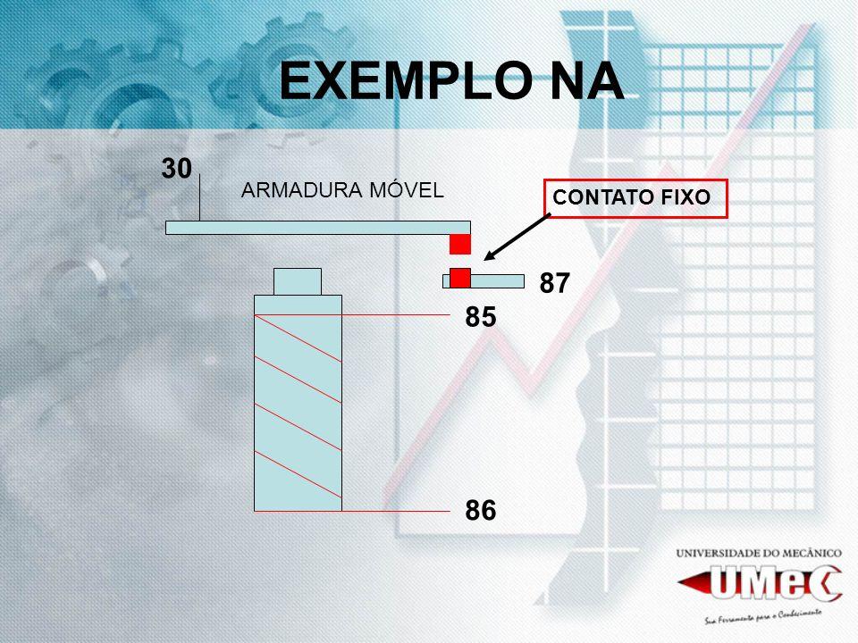 EXEMPLO NA 30 ARMADURA MÓVEL CONTATO FIXO 87 85 86