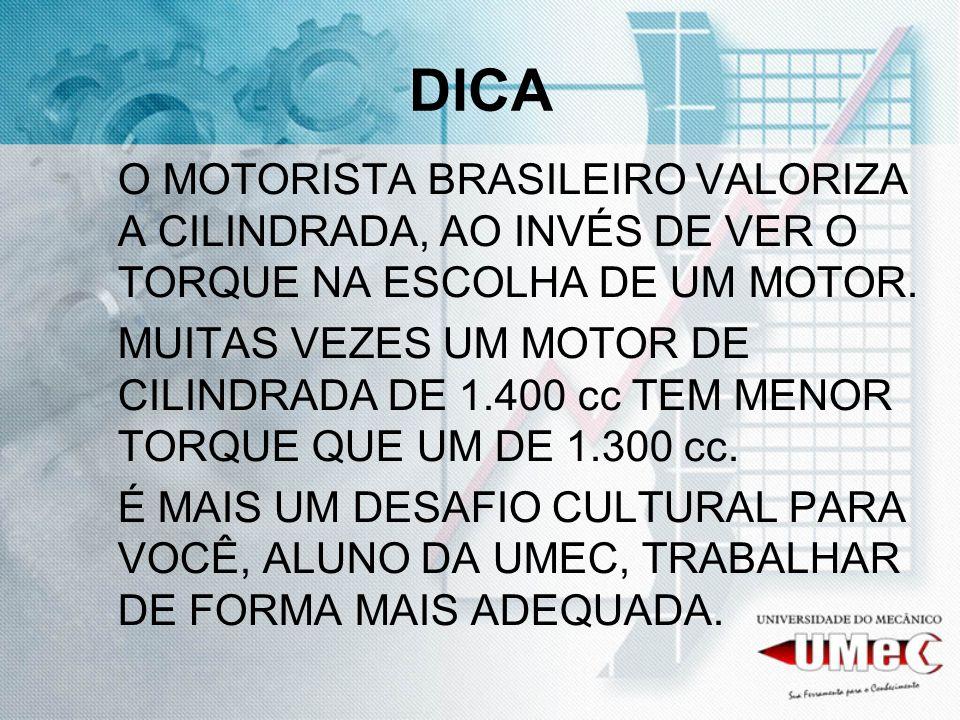 DICA O MOTORISTA BRASILEIRO VALORIZA A CILINDRADA, AO INVÉS DE VER O TORQUE NA ESCOLHA DE UM MOTOR.