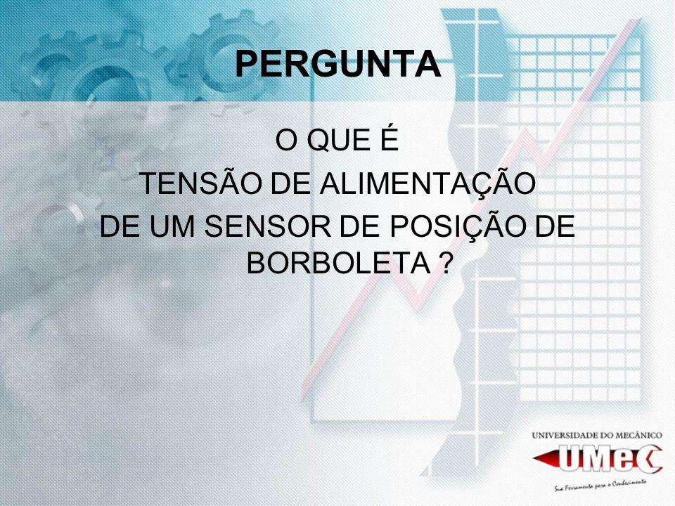 DE UM SENSOR DE POSIÇÃO DE BORBOLETA