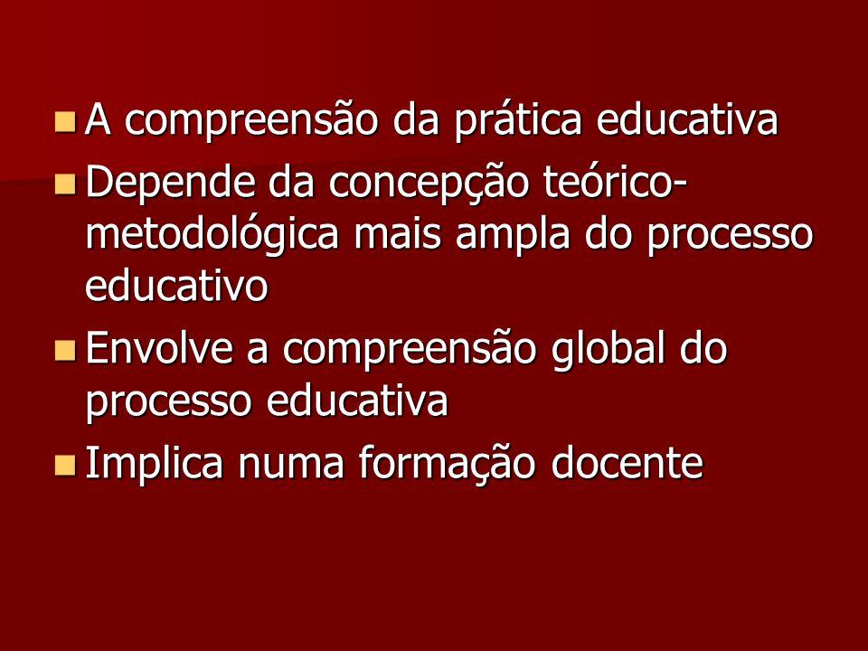 A compreensão da prática educativa