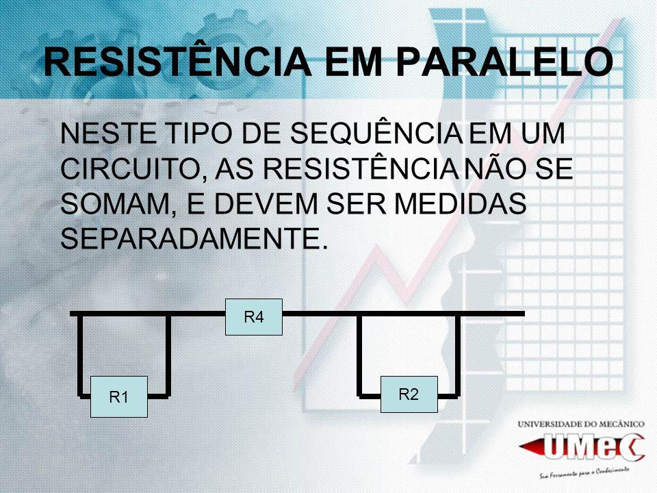 RESISTÊNCIA EM PARALELO