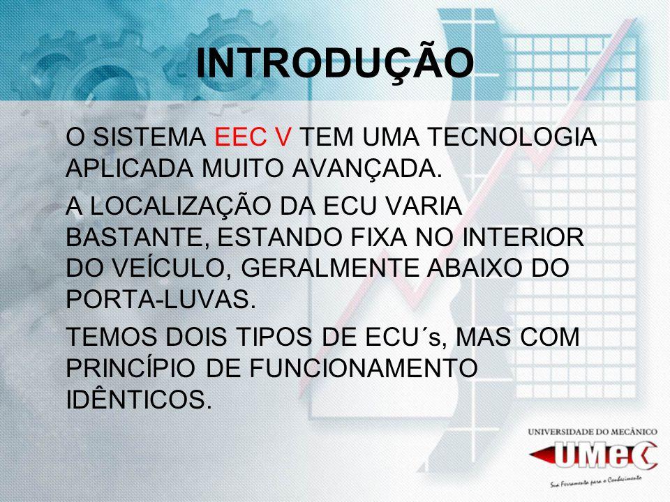 INTRODUÇÃO O SISTEMA EEC V TEM UMA TECNOLOGIA APLICADA MUITO AVANÇADA.