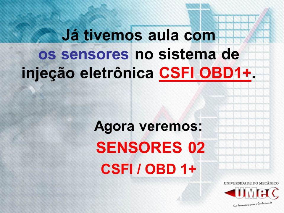 Já tivemos aula com os sensores no sistema de injeção eletrônica CSFI OBD1+.