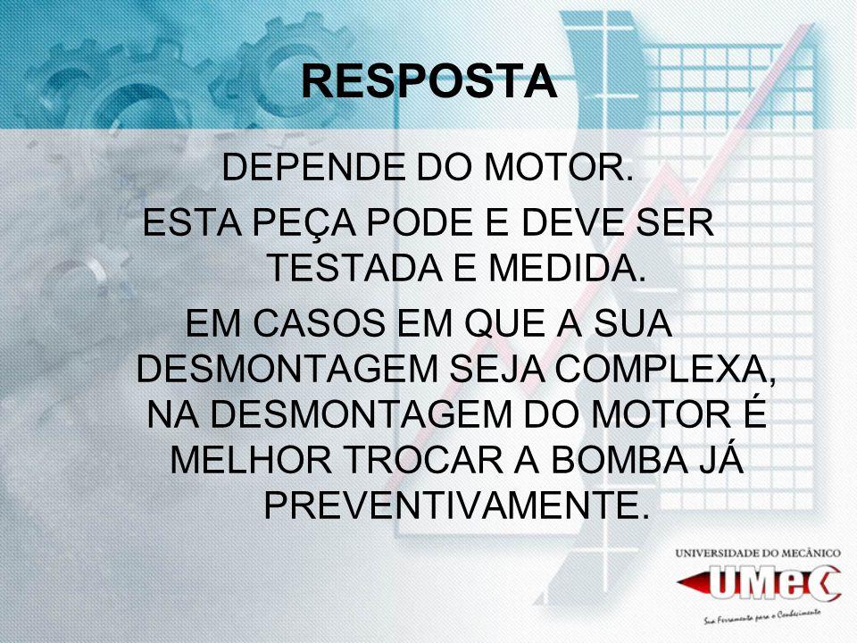 ESTA PEÇA PODE E DEVE SER TESTADA E MEDIDA.
