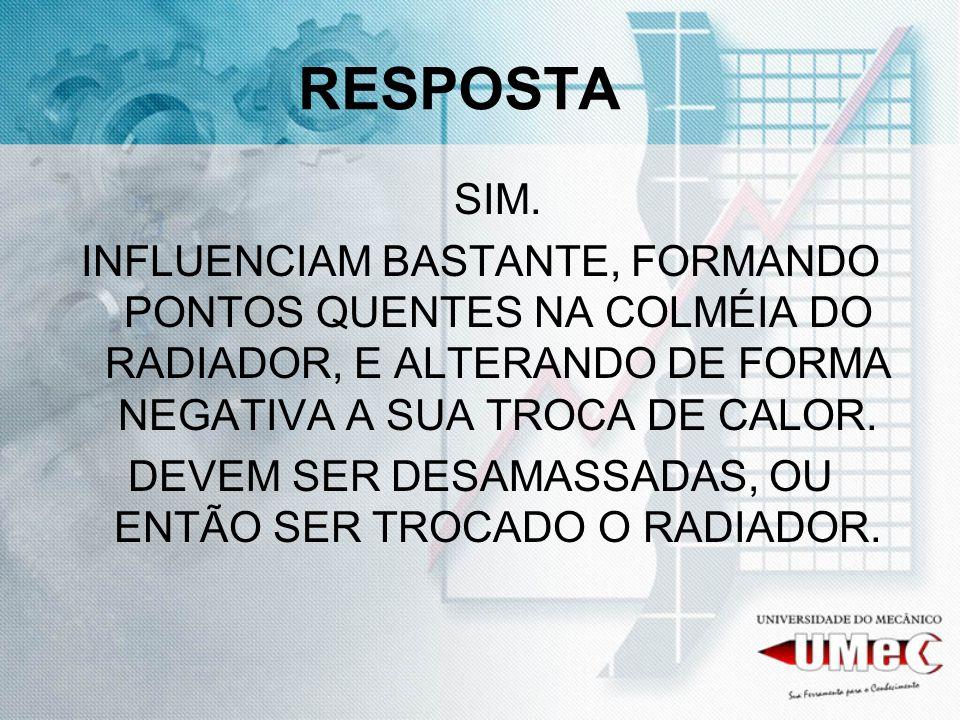 DEVEM SER DESAMASSADAS, OU ENTÃO SER TROCADO O RADIADOR.