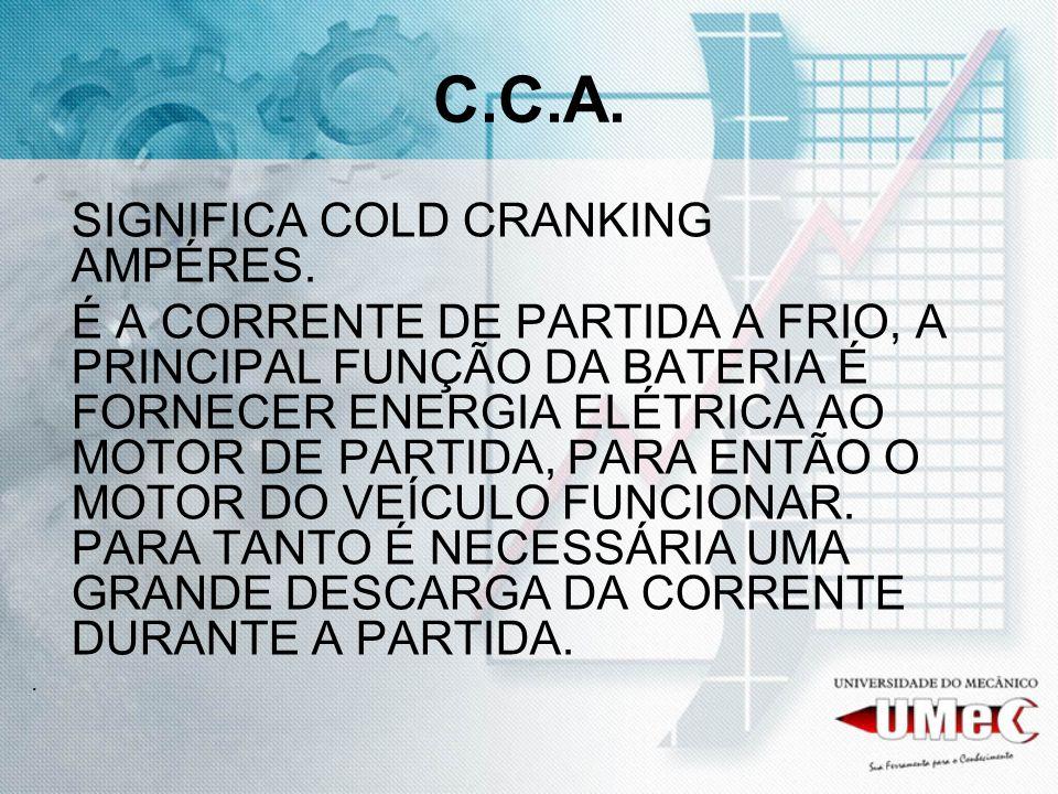 C.C.A. SIGNIFICA COLD CRANKING AMPÉRES.