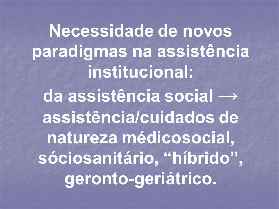 Necessidade de novos paradigmas na assistência institucional: