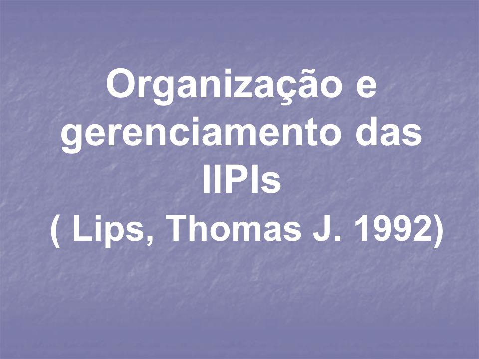 Organização e gerenciamento das IlPIs