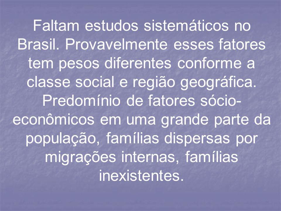 Faltam estudos sistemáticos no Brasil