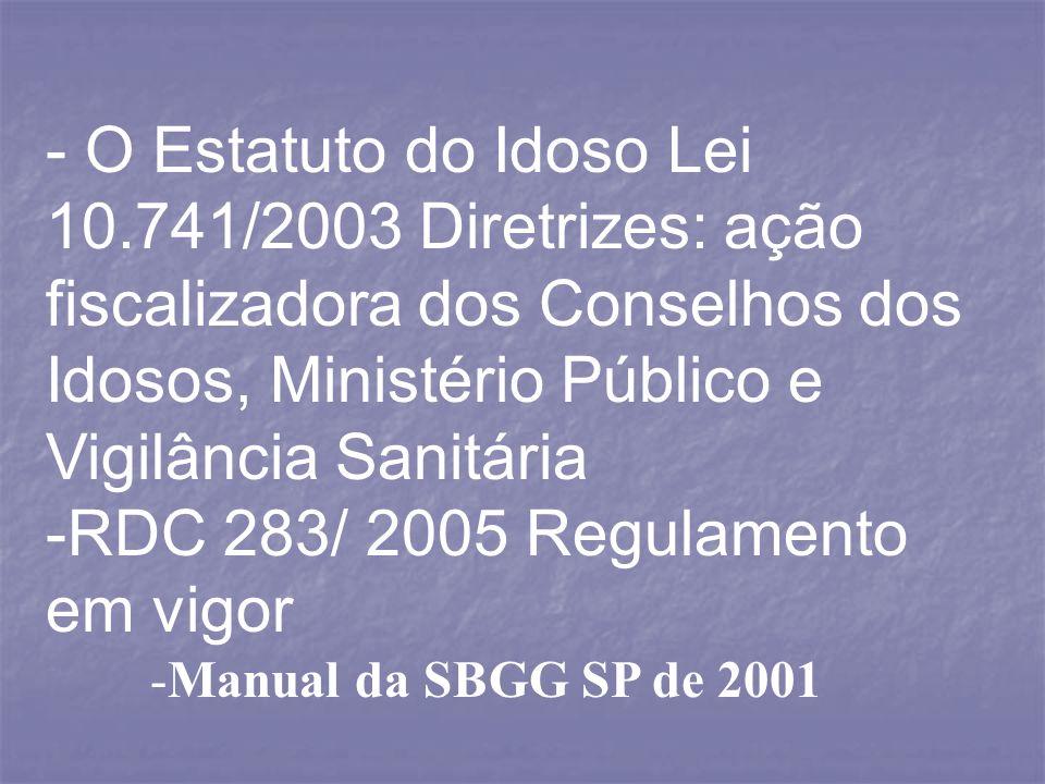 RDC 283/ 2005 Regulamento em vigor