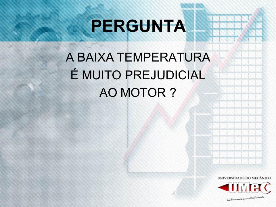 PERGUNTA A BAIXA TEMPERATURA É MUITO PREJUDICIAL AO MOTOR