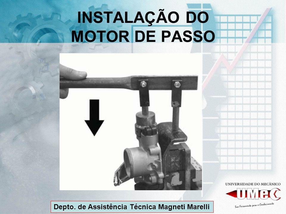 INSTALAÇÃO DO MOTOR DE PASSO