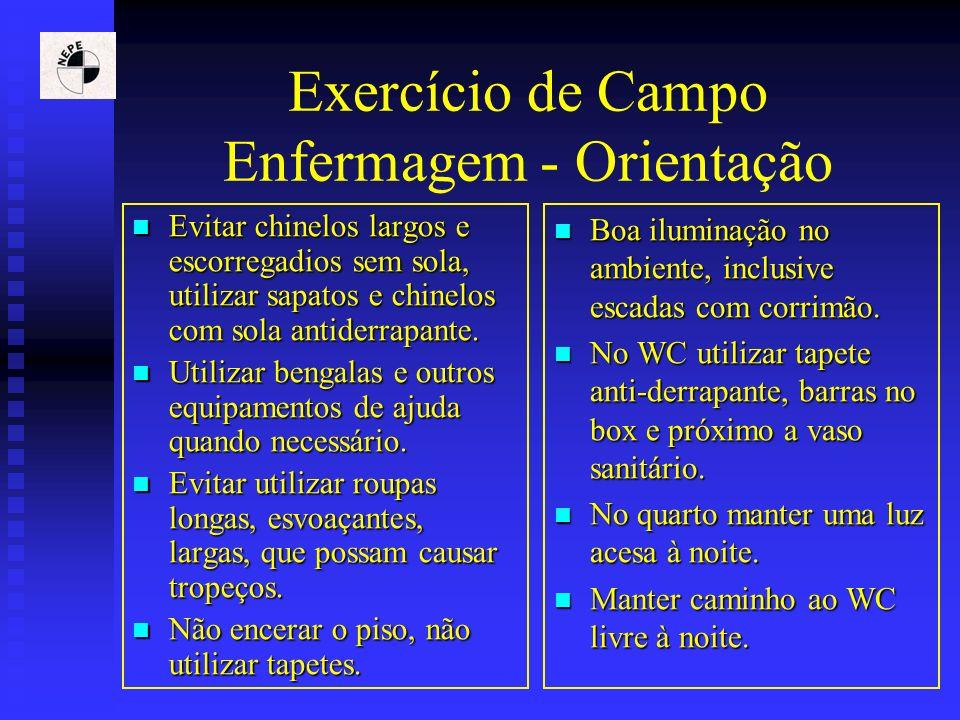 Exercício de Campo Enfermagem - Orientação