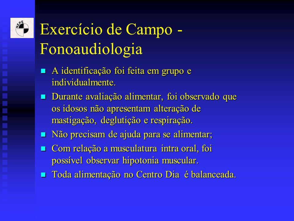 Exercício de Campo - Fonoaudiologia