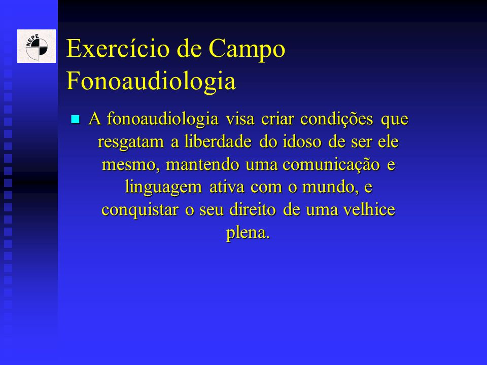 Exercício de Campo Fonoaudiologia