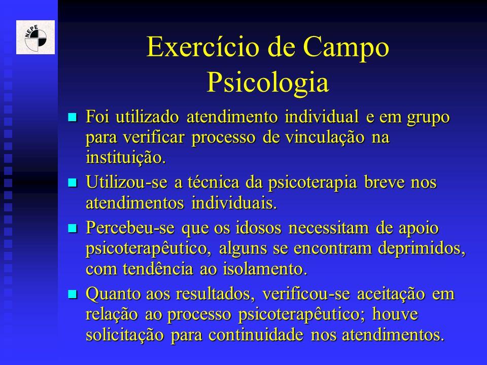Exercício de Campo Psicologia