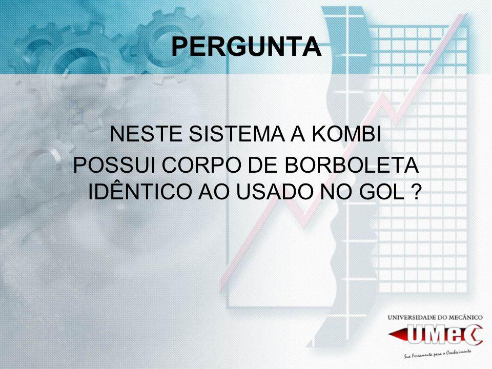 POSSUI CORPO DE BORBOLETA IDÊNTICO AO USADO NO GOL