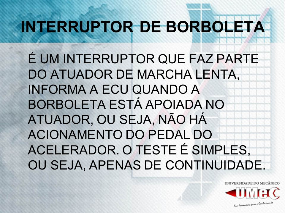 INTERRUPTOR DE BORBOLETA