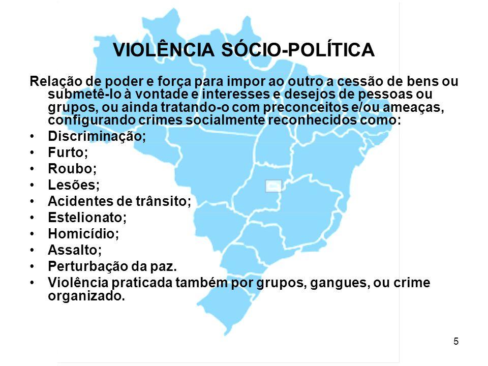 VIOLÊNCIA SÓCIO-POLÍTICA